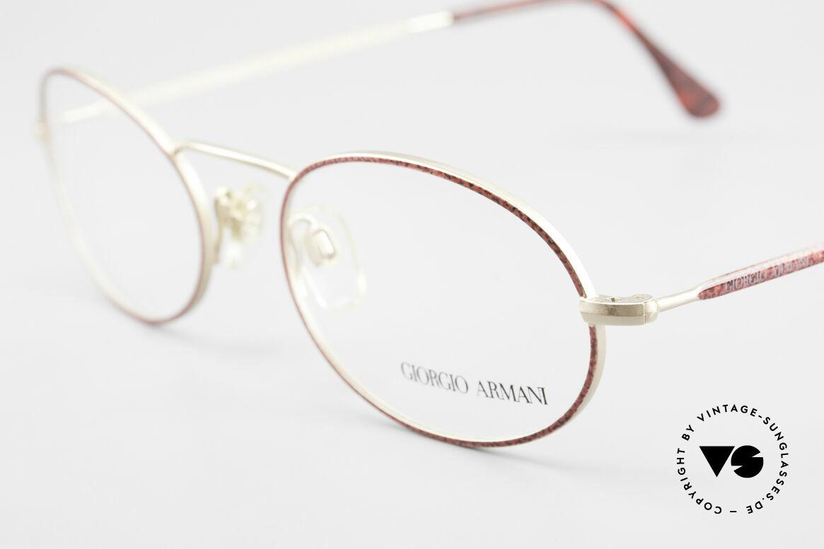 Giorgio Armani 125 Ovale 80er Vintage Fassung, ungetragen (wie alle unsere 80er GA Brillenklassiker), Passend für Damen