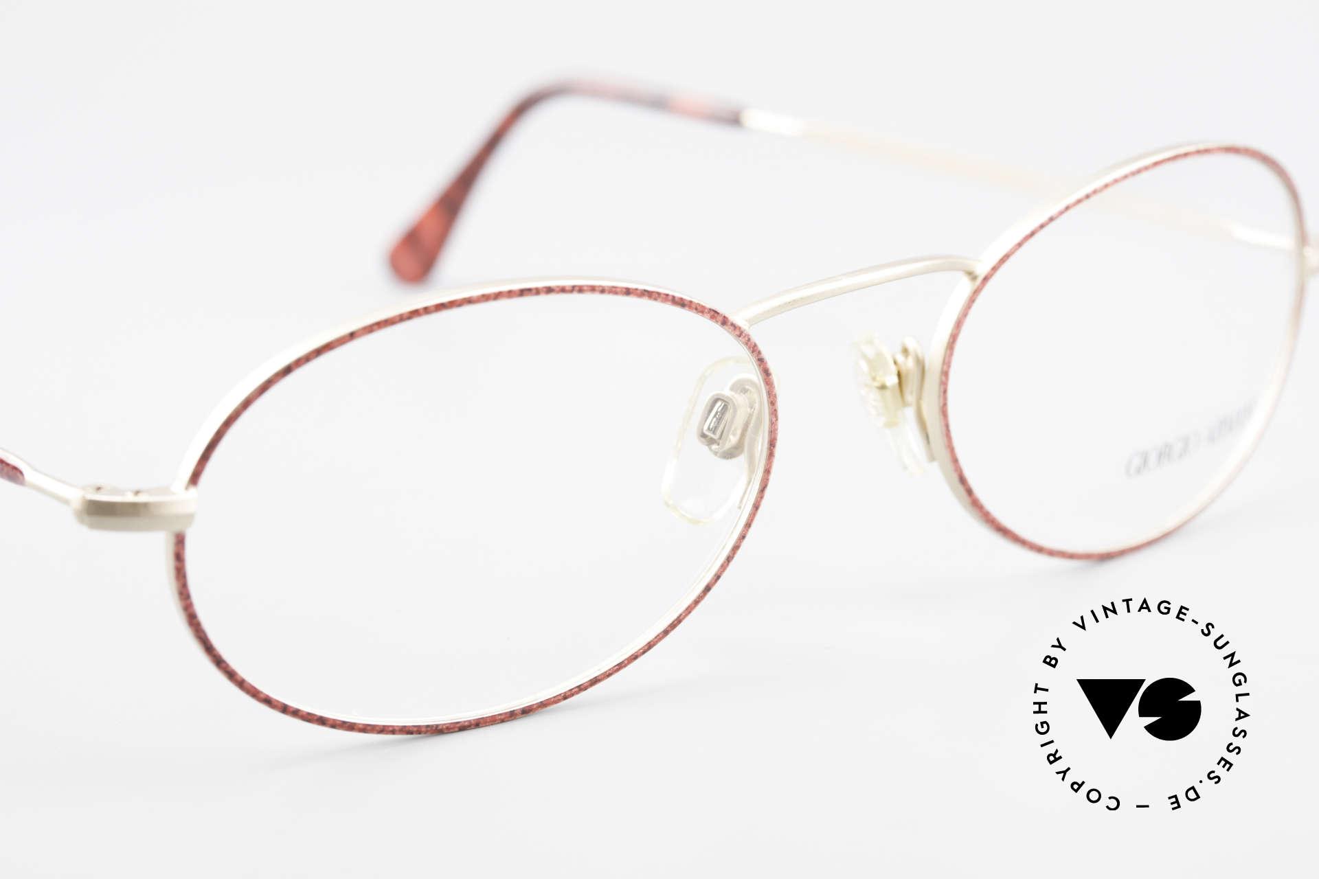 Giorgio Armani 125 Ovale 80er Vintage Fassung, Fassung ist beliebig verglasbar (optisch oder Sonne), Passend für Damen