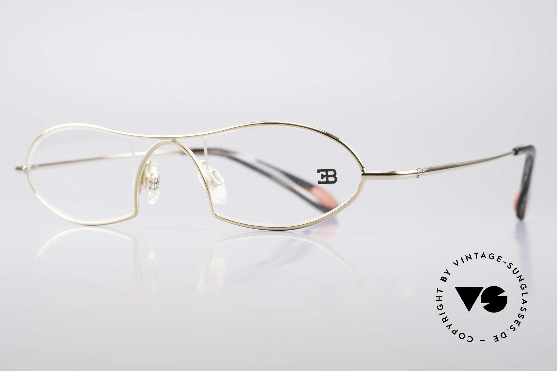 Bugatti 351 Odotype Herren Designer Brille Luxus, ergonomischer Rahmen mit Federscharnieren, Passend für Herren