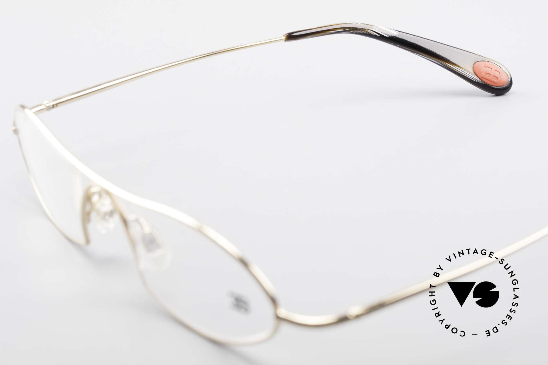 Bugatti 351 Odotype Herren Designer Brille Luxus, circa 15 Jahre altes Einzelstück; ungetragen!, Passend für Herren