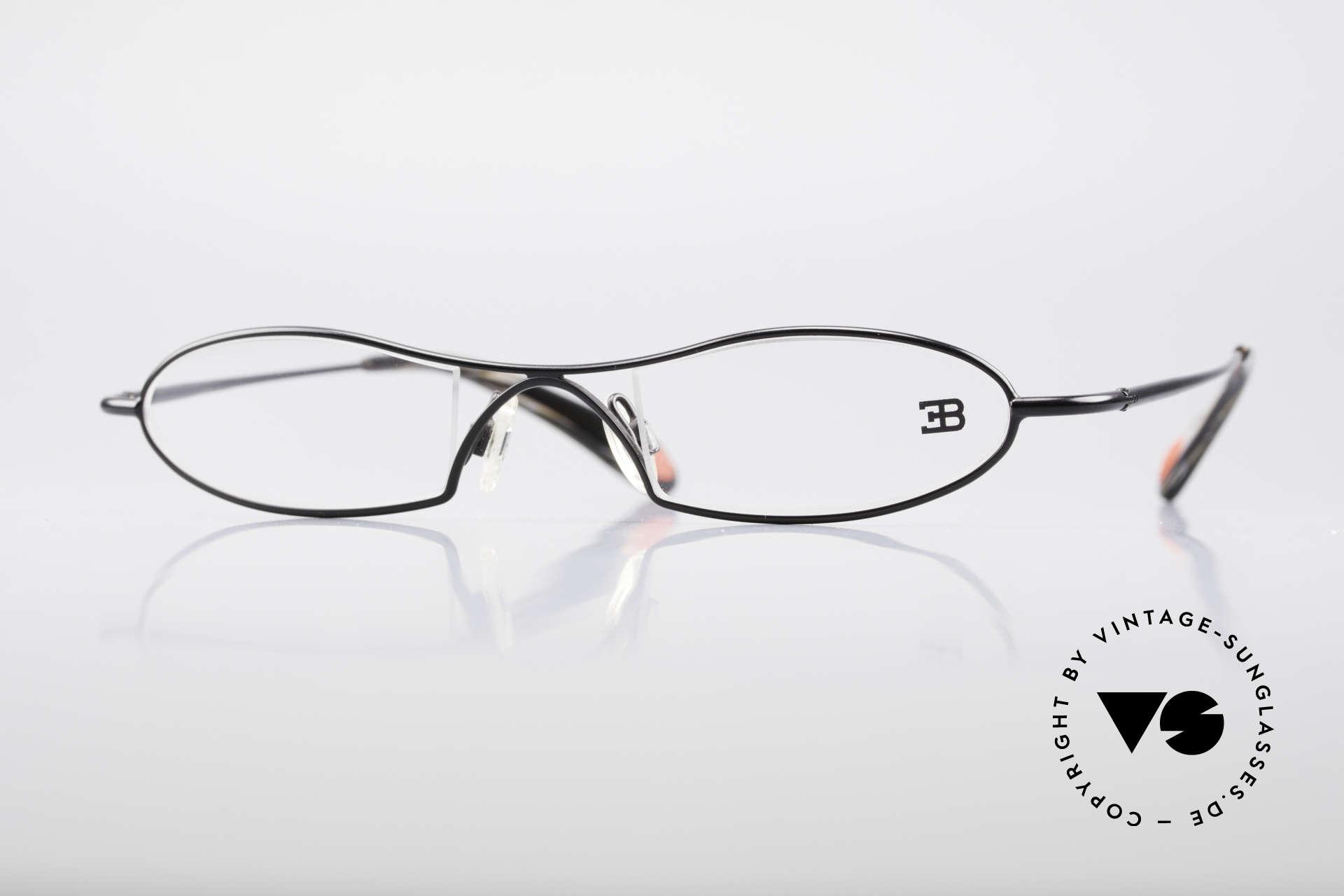 Bugatti 347 Odotype Kleine Herren Designer Brille, ORIGINAL high-tech Bugatti Brillenfasssung, Passend für Herren
