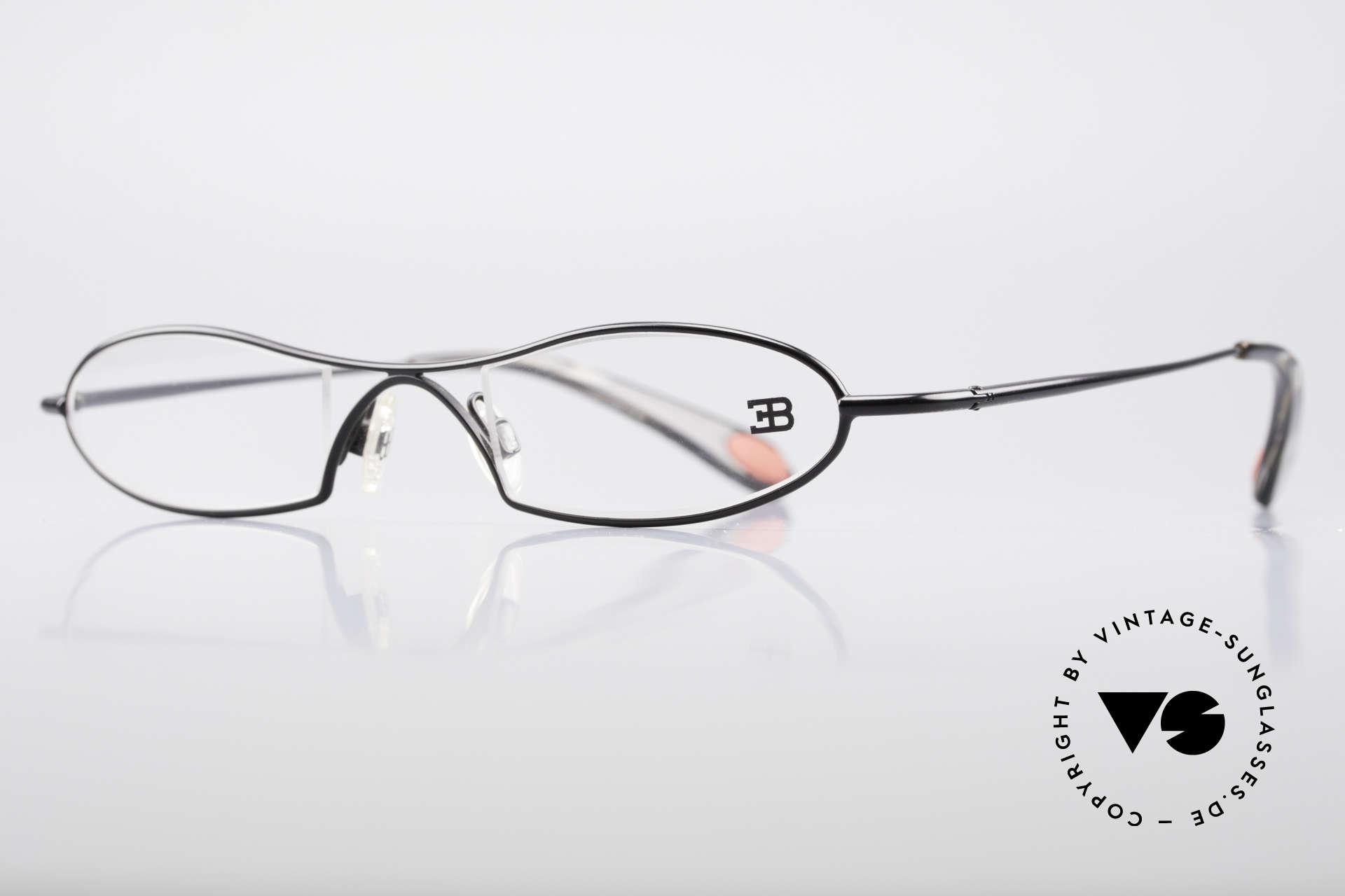Bugatti 347 Odotype Kleine Herren Designer Brille, ergonomischer Rahmen mit Federscharnieren, Passend für Herren