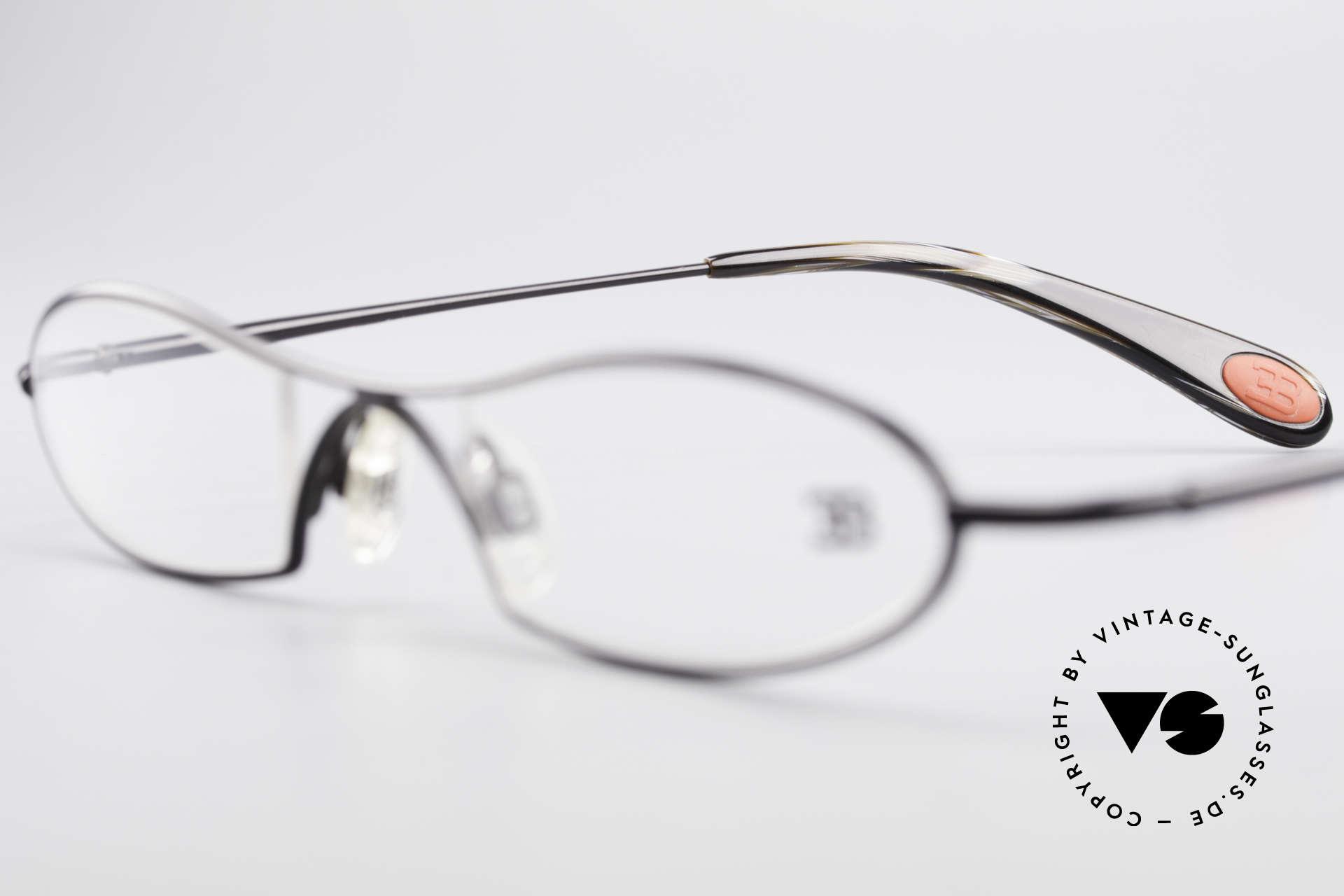 Bugatti 347 Odotype Kleine Herren Designer Brille, circa 15 Jahre altes Einzelstück; ungetragen!, Passend für Herren