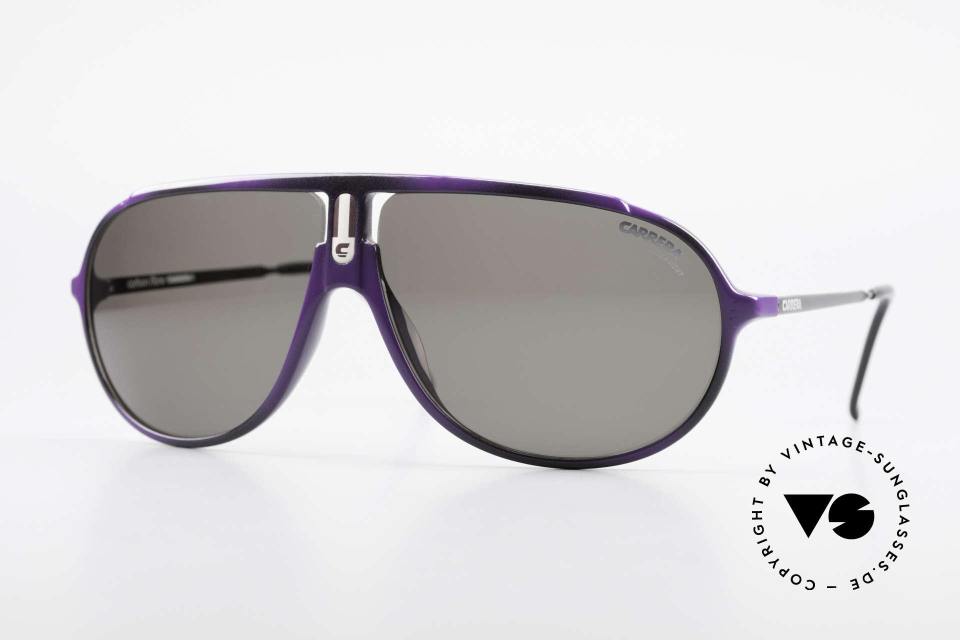 Carrera 5467 Carbon Fibre Brille Kohlefaser, hochwertiges vintage CARRERA Modell der 80er, Passend für Herren