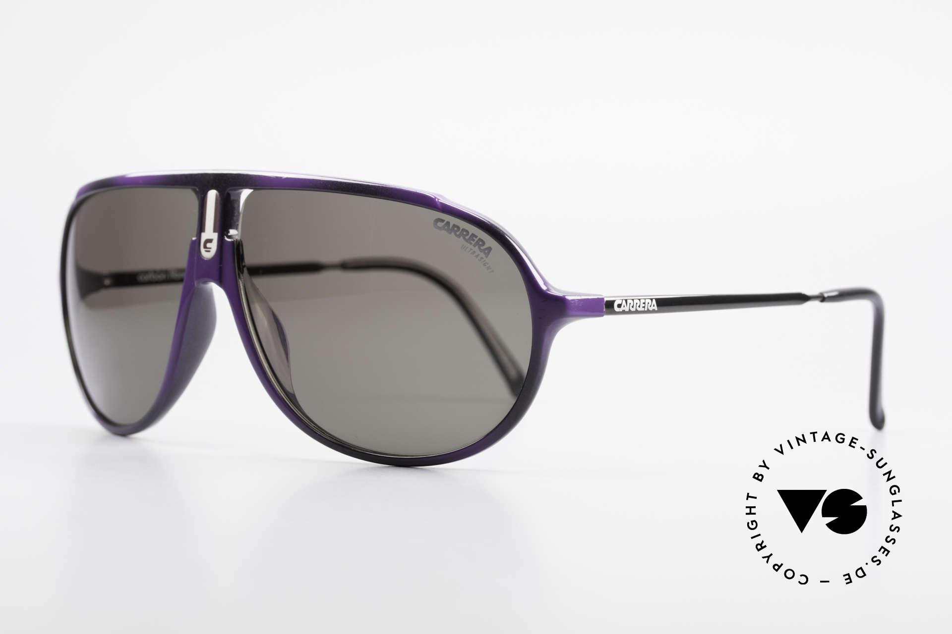 Carrera 5467 Carbon Fibre Brille Kohlefaser, klassische Pilotenbrillenform in seltener Farbe, Passend für Herren