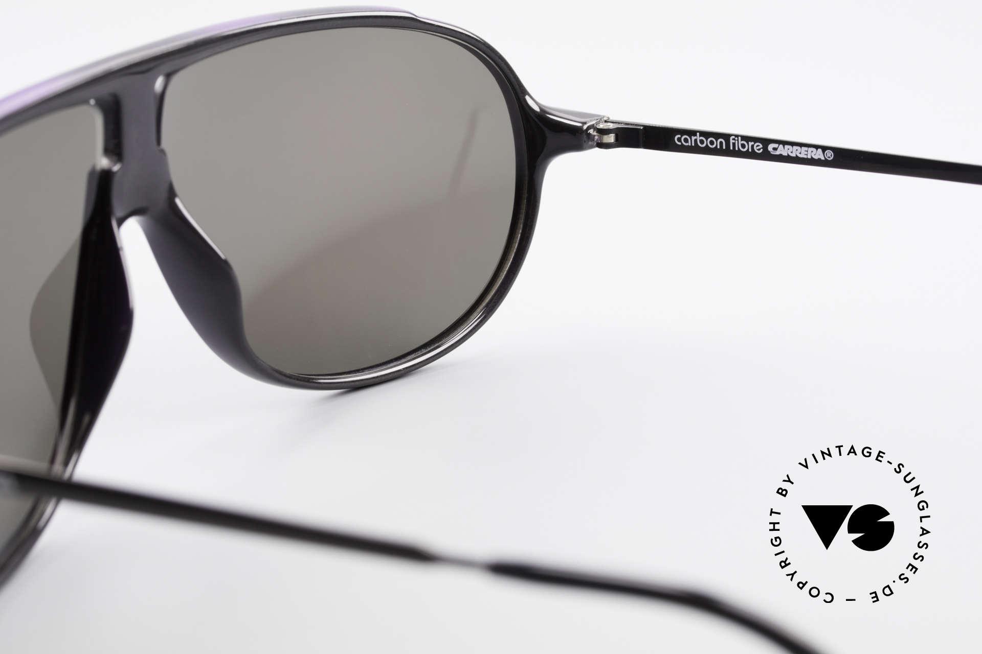 Carrera 5467 Carbon Fibre Brille Kohlefaser, KEINE Retrosonnenbrille, 100% vintage Original!, Passend für Herren
