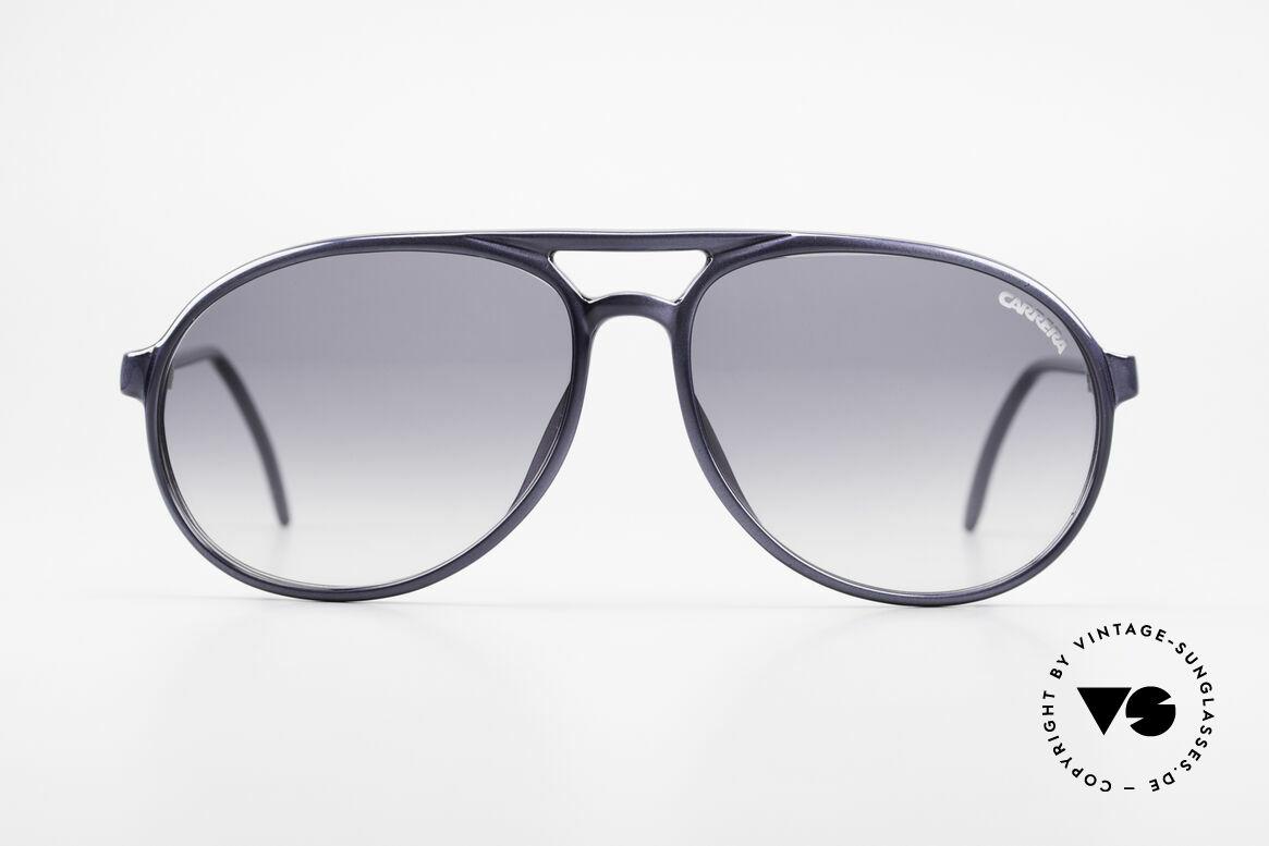 Carrera 4814 Vintage Brille Blau Metallic, sehr edle vintage Aviator Sonnenbrille von Carrera, Passend für Herren