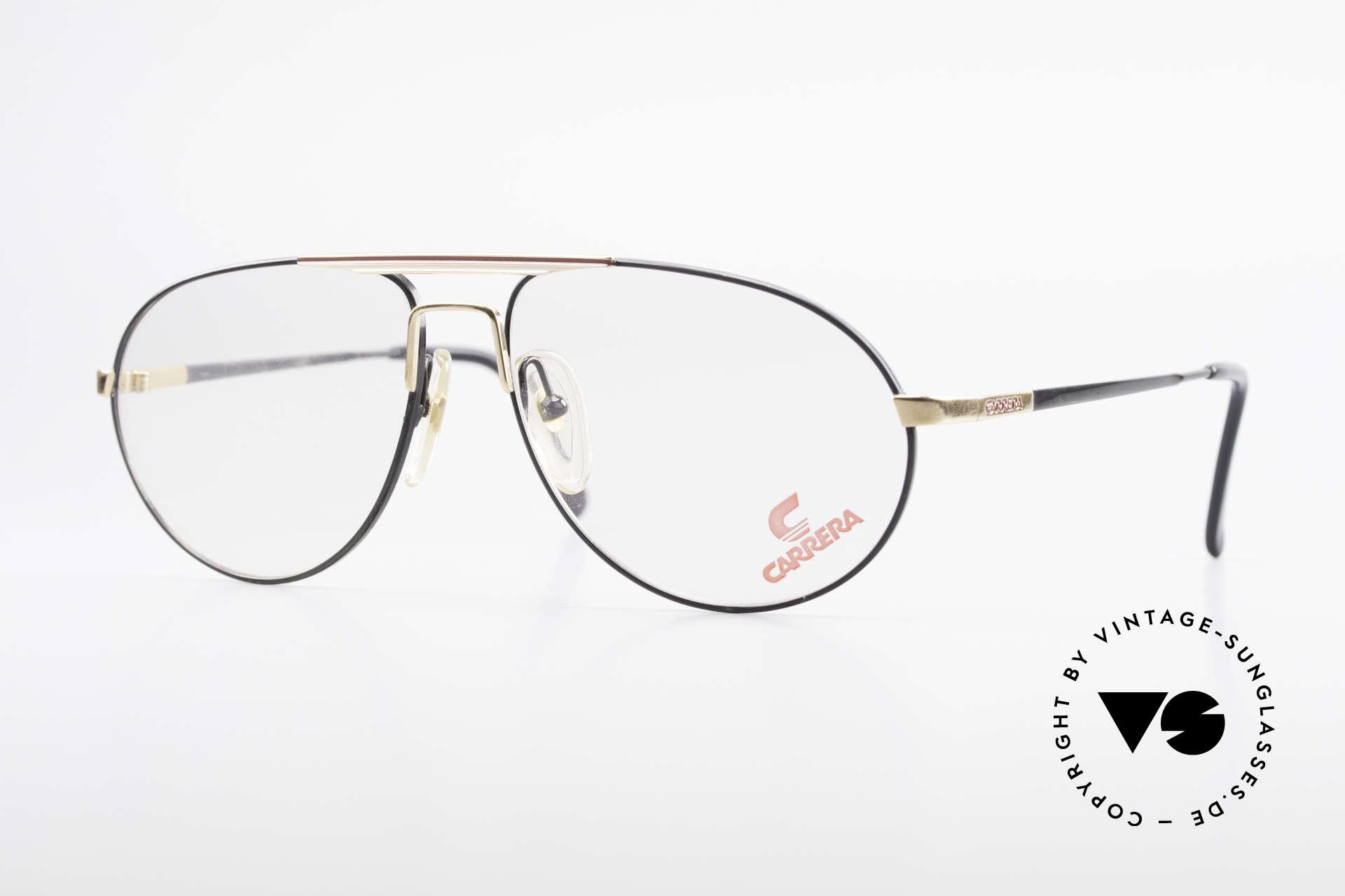 Carrera 5340 Vintage Aviator Brille No Retro, sehr interessante vintage Carrera Aviator Brille, Passend für Herren