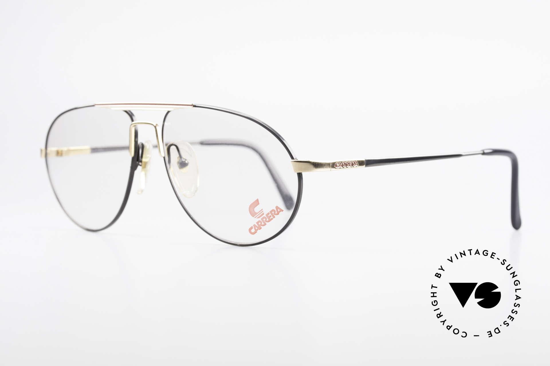 Carrera 5340 Vintage Aviator Brille No Retro, absolute Top-Qualität: damals 'made in Germany', Passend für Herren