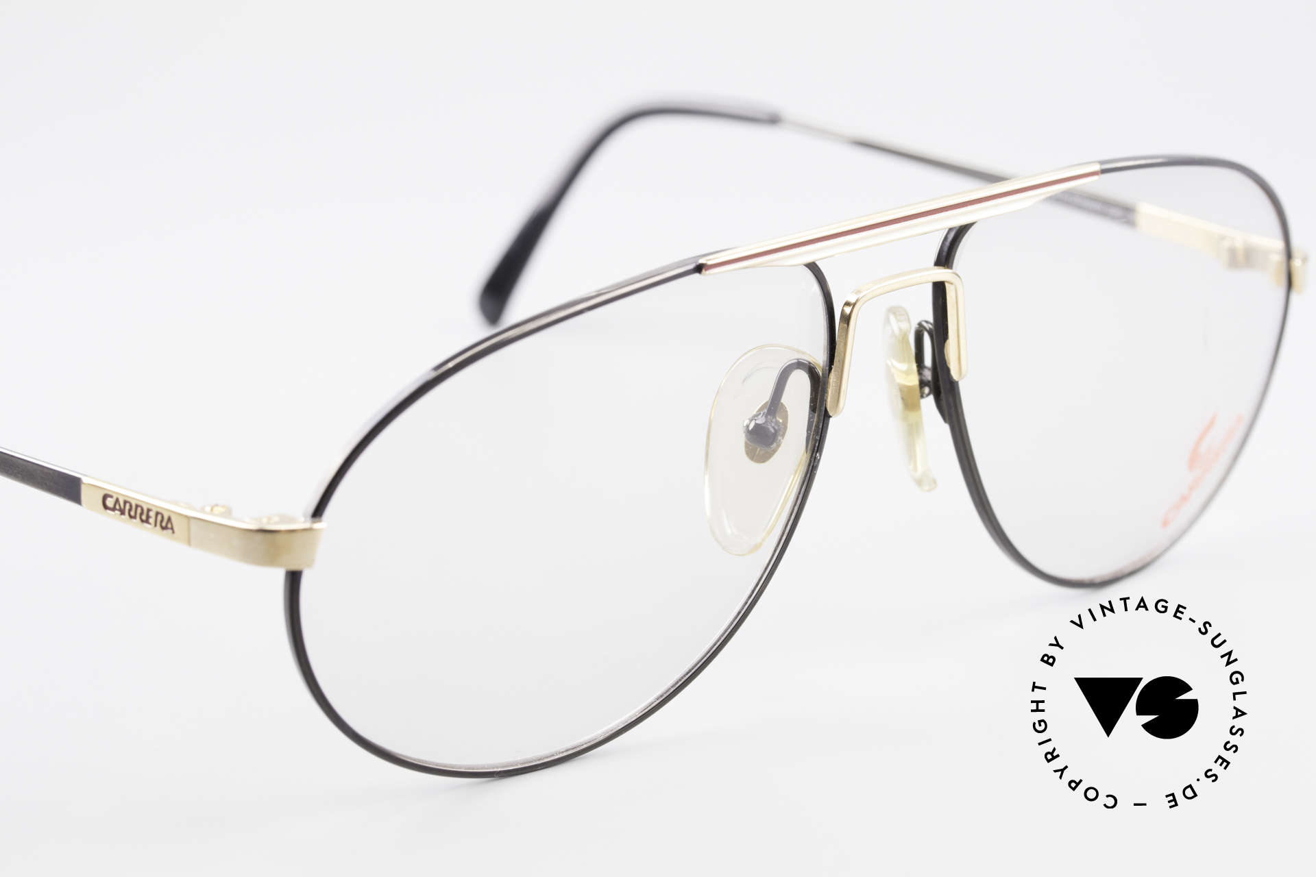 Carrera 5340 Vintage Aviator Brille No Retro, KEINE RETRObrille; ein 20 Jahre altes ORIGINAL, Passend für Herren