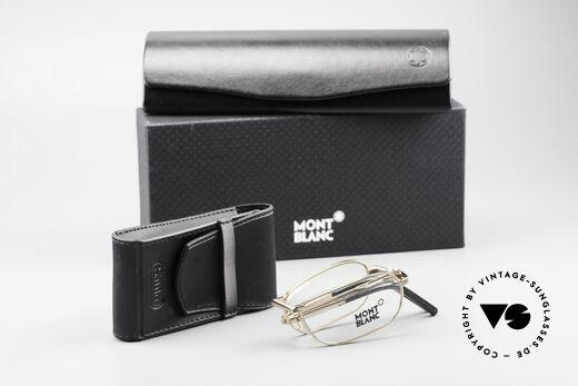 Montblanc MB30 Folding Vergoldete Luxus Faltbrille