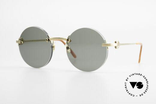 Cartier C-Decor Madison Runde Luxus Sonnenbrille Details