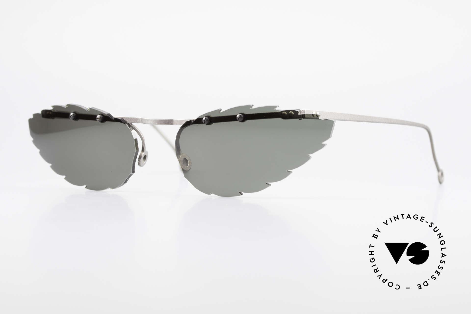 Theo Belgium Asis Sonnengläser wie ein Blatt, Theo Belgium: die eigenwilligste Brillenmarke, weltweit, Passend für Herren und Damen