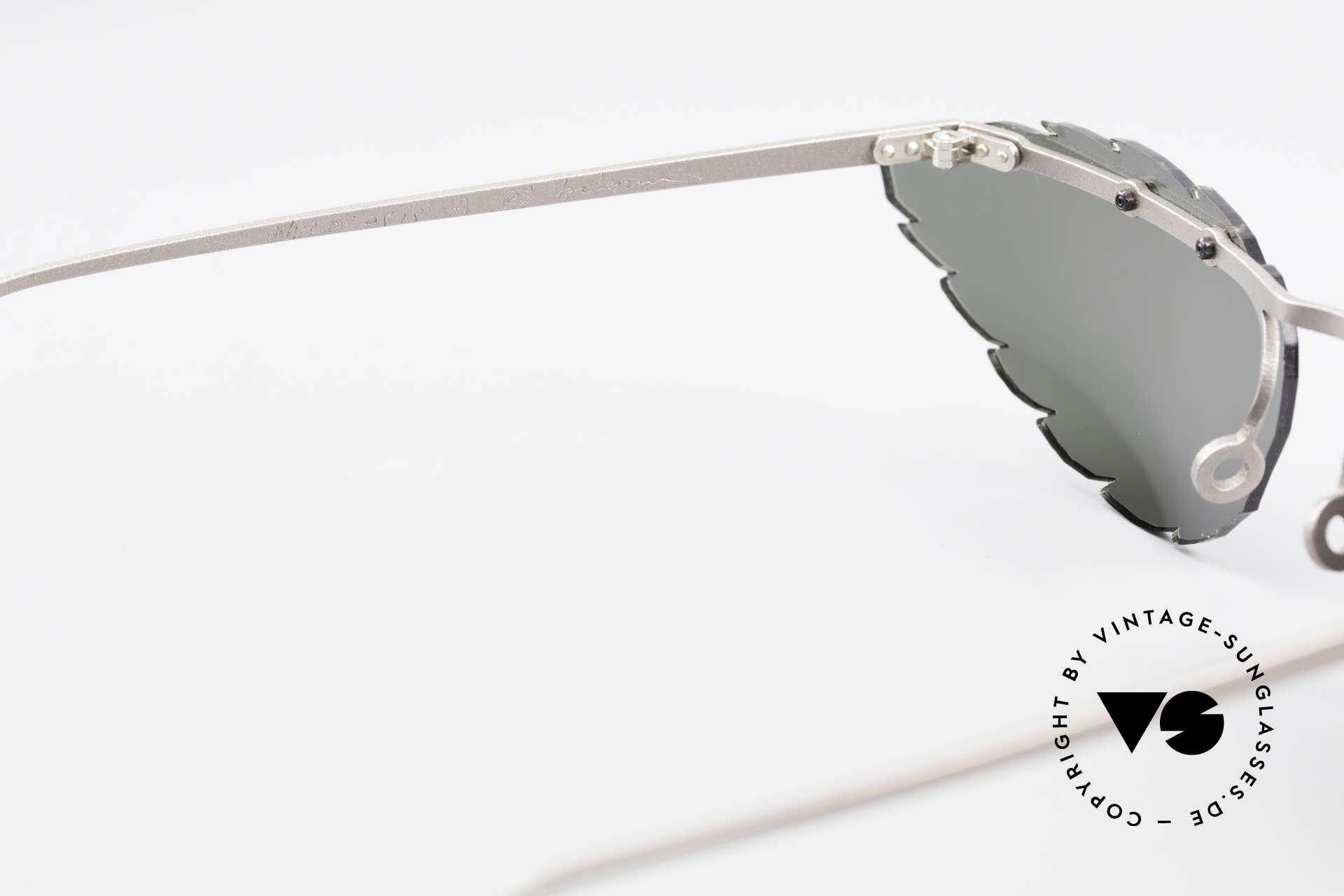 Theo Belgium Asis Sonnengläser wie ein Blatt, sozusagen: VINTAGE Sonnenbrille mit Symbol-Charakter, Passend für Herren und Damen