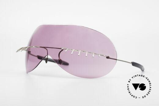 Theo Belgium Satisfashion 131 Sonnenbrille mit Wimpern Details