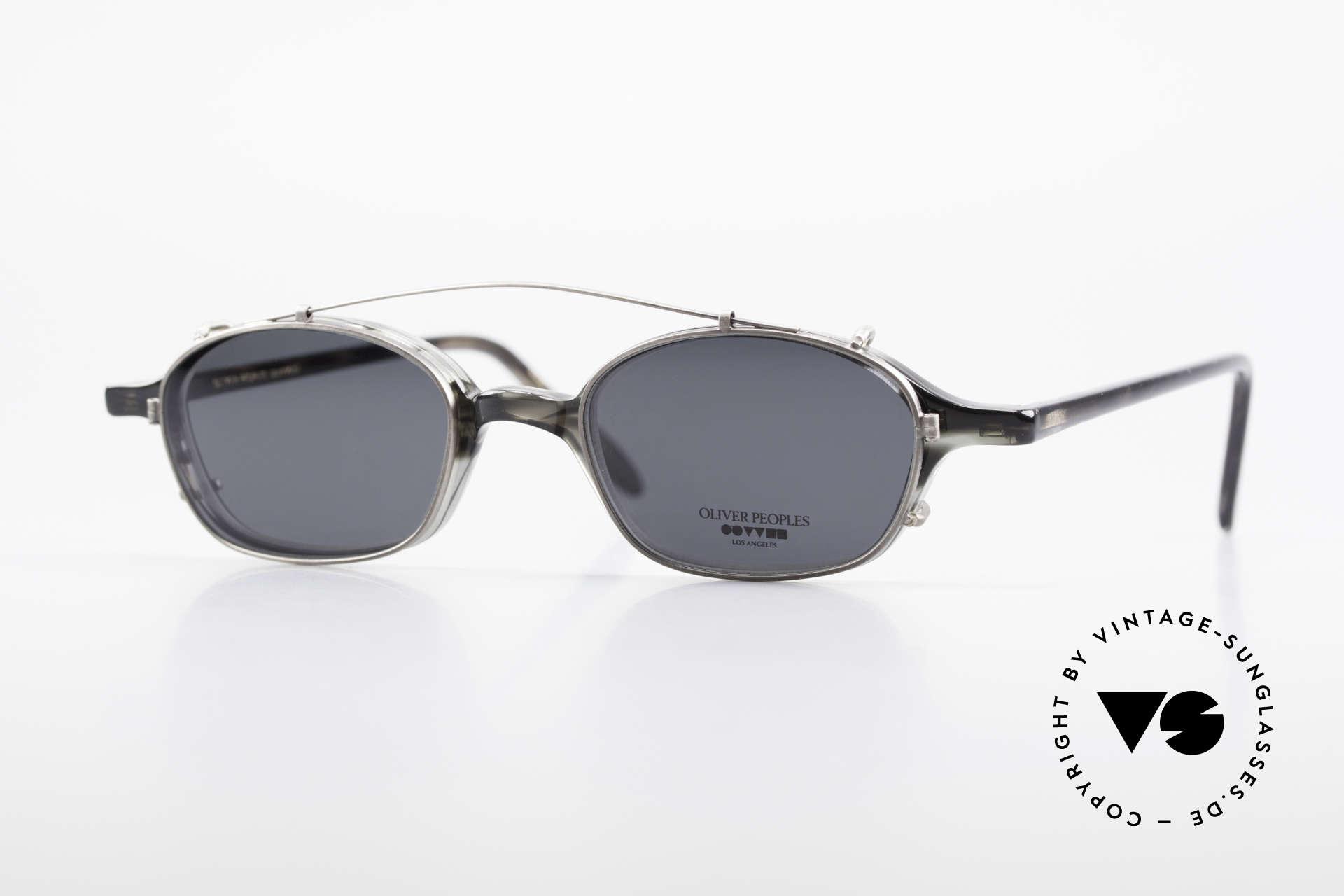 Oliver Peoples OP561 Vintage 90er Brille Mit Clip, vintage Oliver Peoples Designerbrille der späten 90er, Passend für Herren und Damen