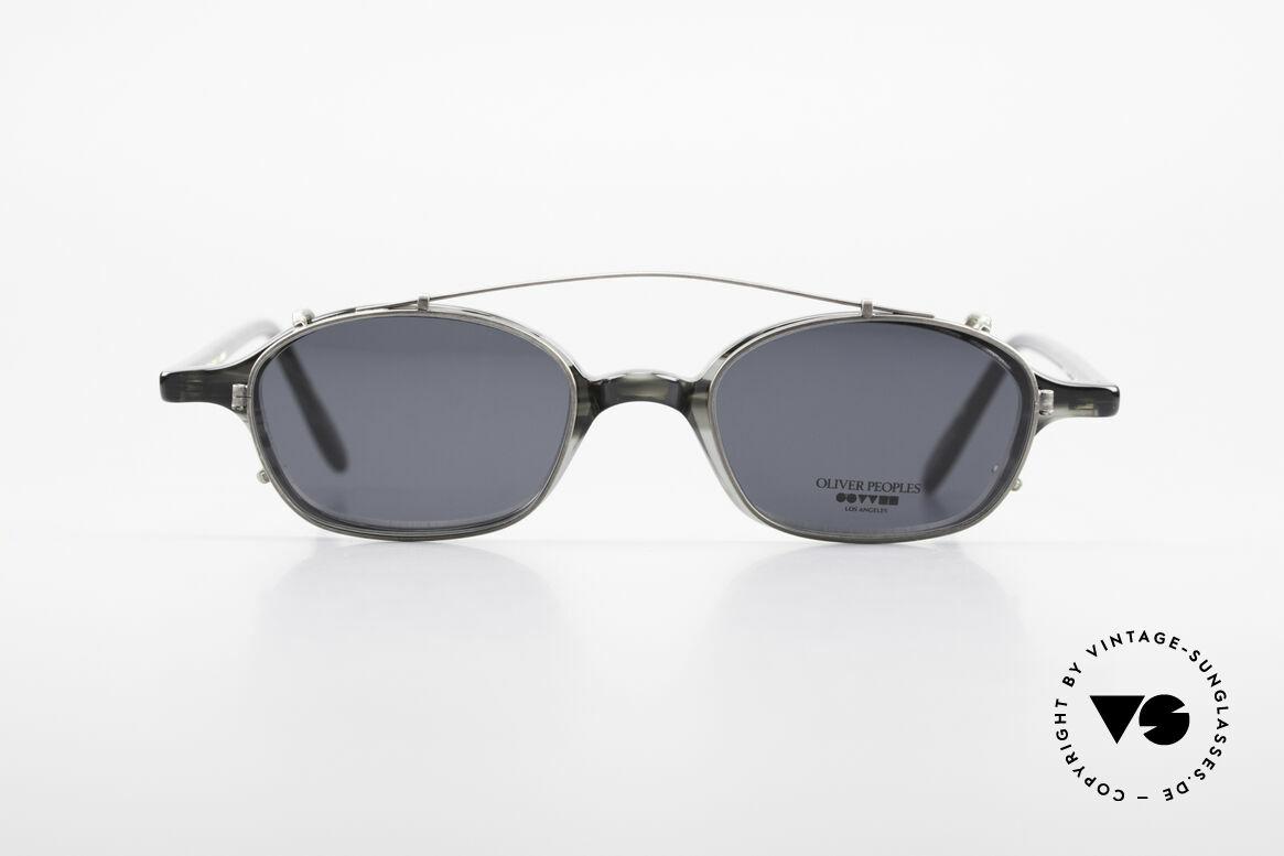 Oliver Peoples OP561 Vintage 90er Brille Mit Clip, Luxusbrille: verkörpert den Lifestyle von Los Angeles, Passend für Herren und Damen