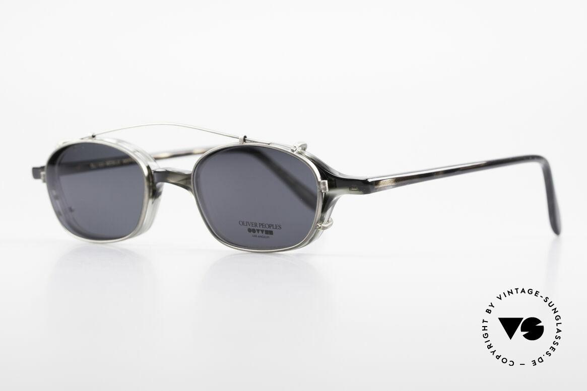 Oliver Peoples OP561 Vintage 90er Brille Mit Clip, zeitlos, schlicht, elegant (mit passendem Sonnen-Clip), Passend für Herren und Damen