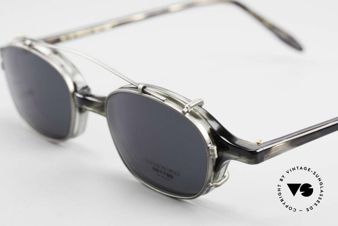 Oliver Peoples OP561 Vintage 90er Brille Mit Clip, ungetragenes O. Peoples Einzelstück (made in Japan), Passend für Herren und Damen