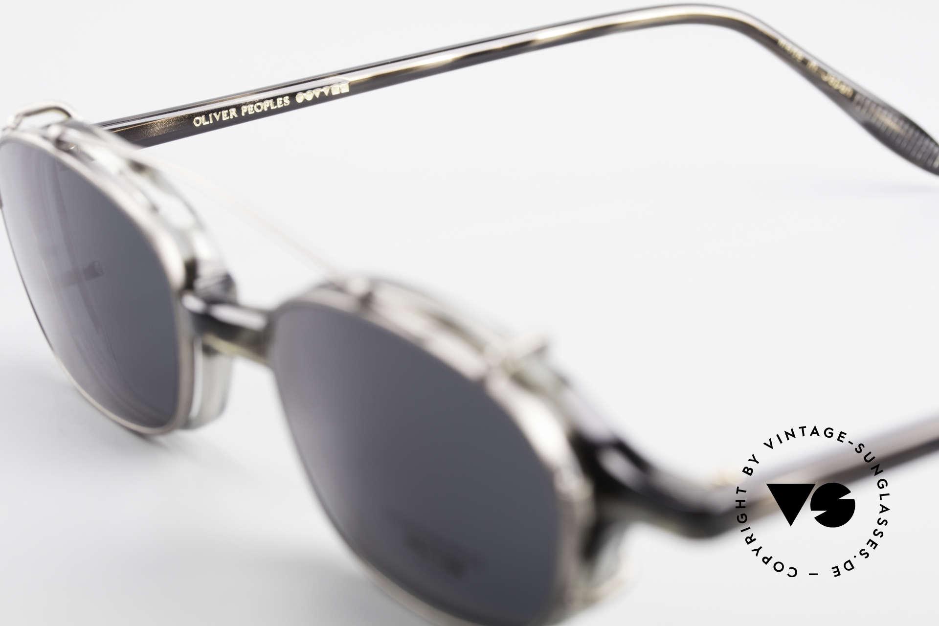 Oliver Peoples OP561 Vintage 90er Brille Mit Clip, KEINE Retrobrille; sondern ein 20 Jahre altes Original, Passend für Herren und Damen