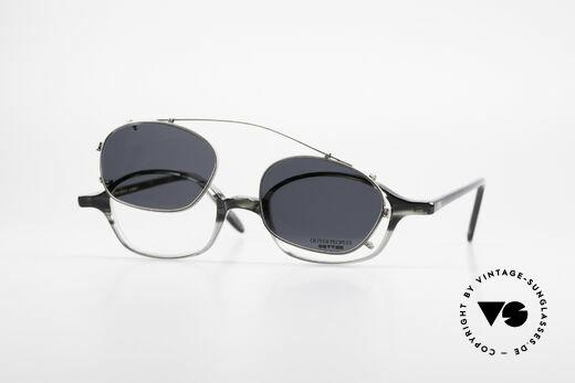 Oliver Peoples OP561 Vintage 90er Brille Mit Clip, Größe: small, Passend für Herren und Damen