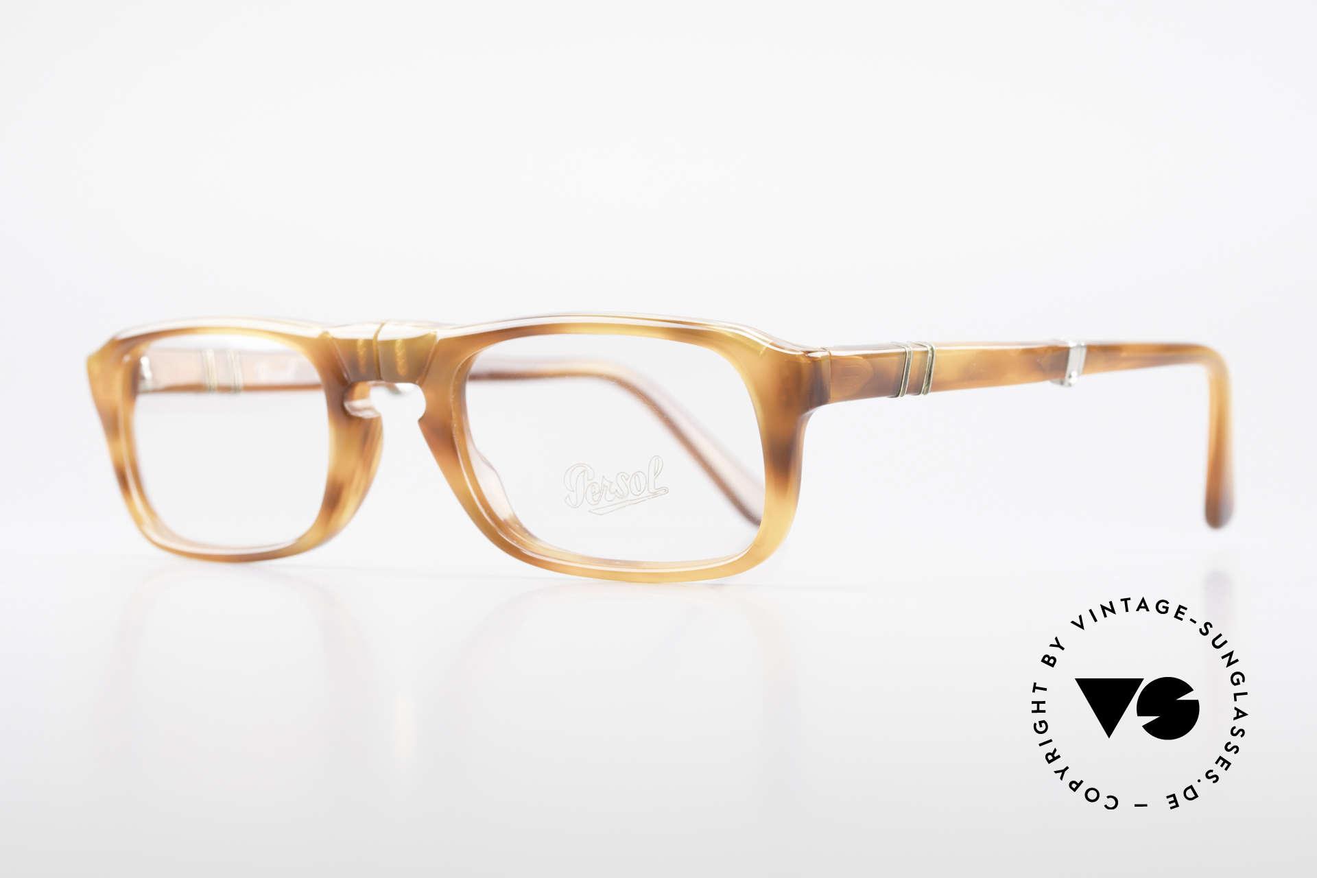 Persol Ratti 813 Folding Vintage Faltbrille Lesebrille, alte Designer-Brillenfassung aus der RATTI Manufaktur, Passend für Herren