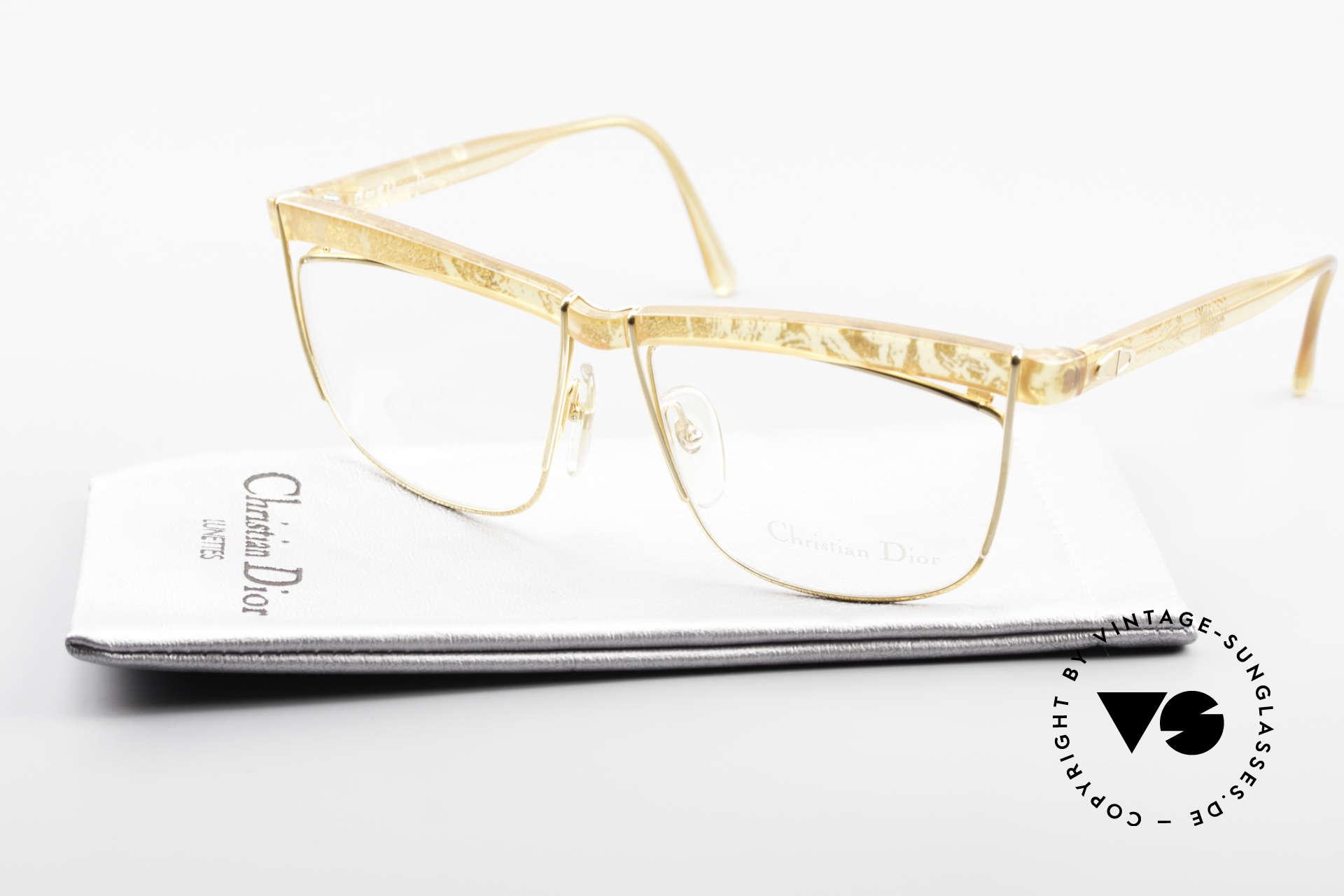Christian Dior 2552 90er Vintage Brille Damen, Qualitätsfassung kann beliebig verglast werden, Passend für Damen
