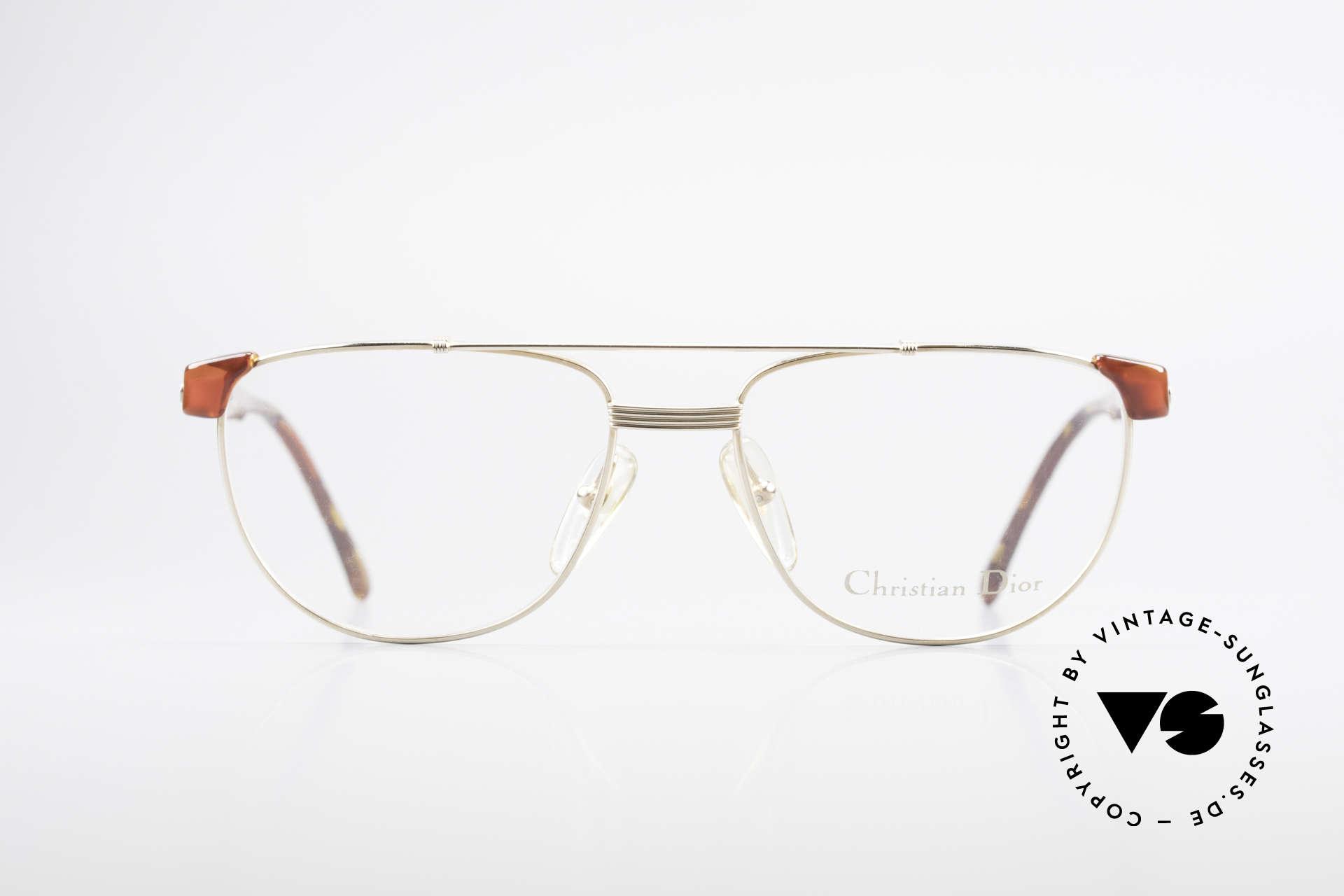 Christian Dior 2722 90er Designer Brille Unisex, Kombination von Metallfassung mit Kunststoff, Passend für Herren und Damen