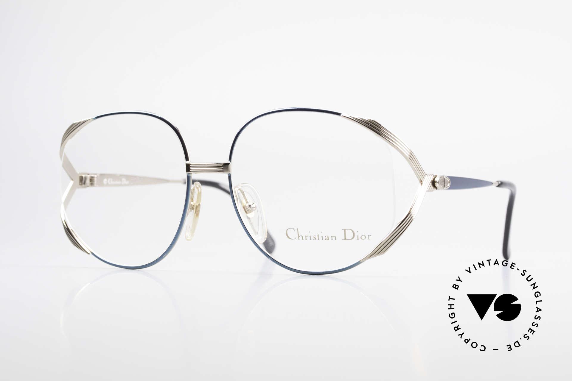 Christian Dior 2387 Damen Vintage Brille Rarität, auffällige Dior Designer-Brillenfassung von 1989, Passend für Damen