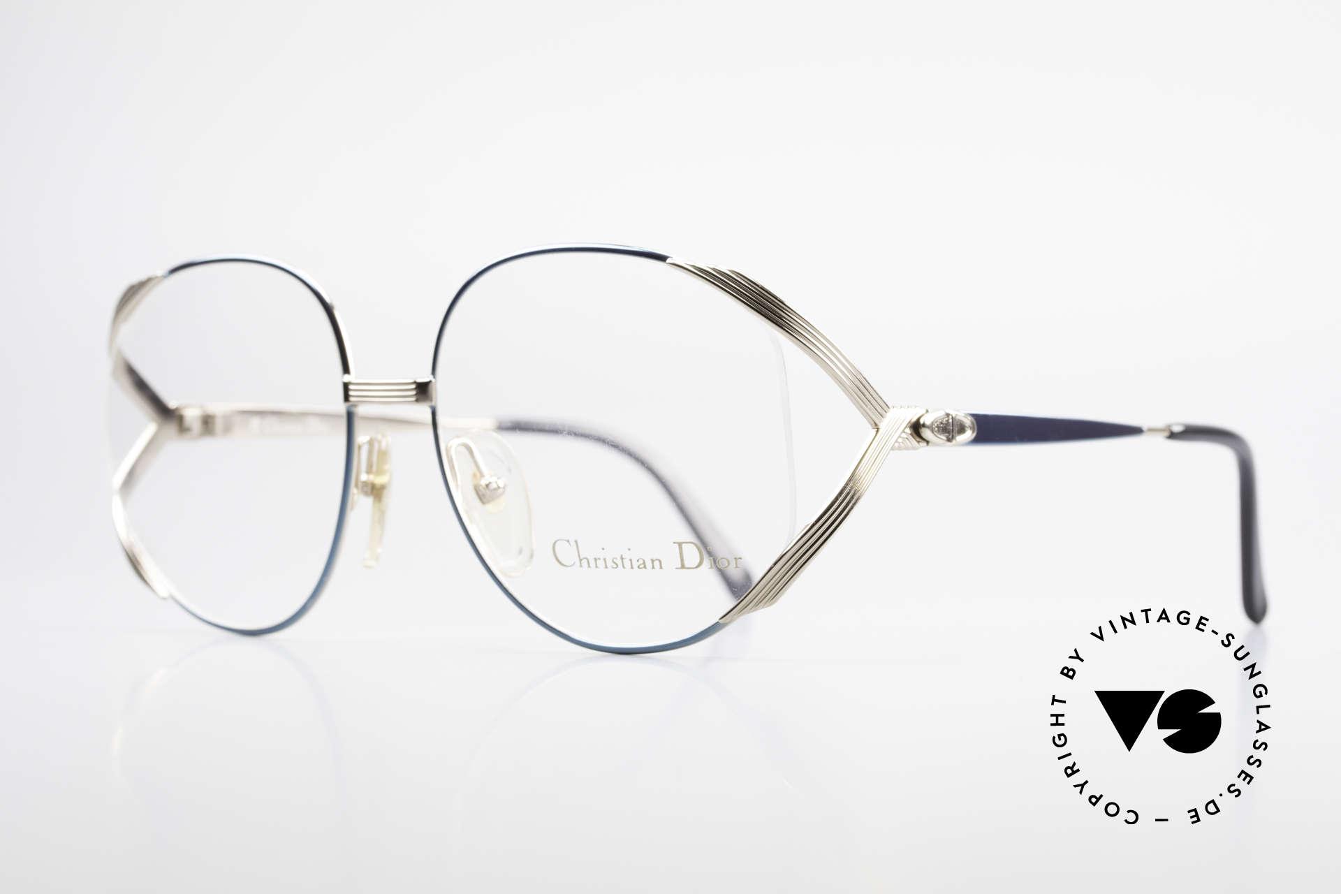Christian Dior 2387 Damen Vintage Brille Rarität, vergoldeter Rahmen & Kolorierung in petrol-grün, Passend für Damen