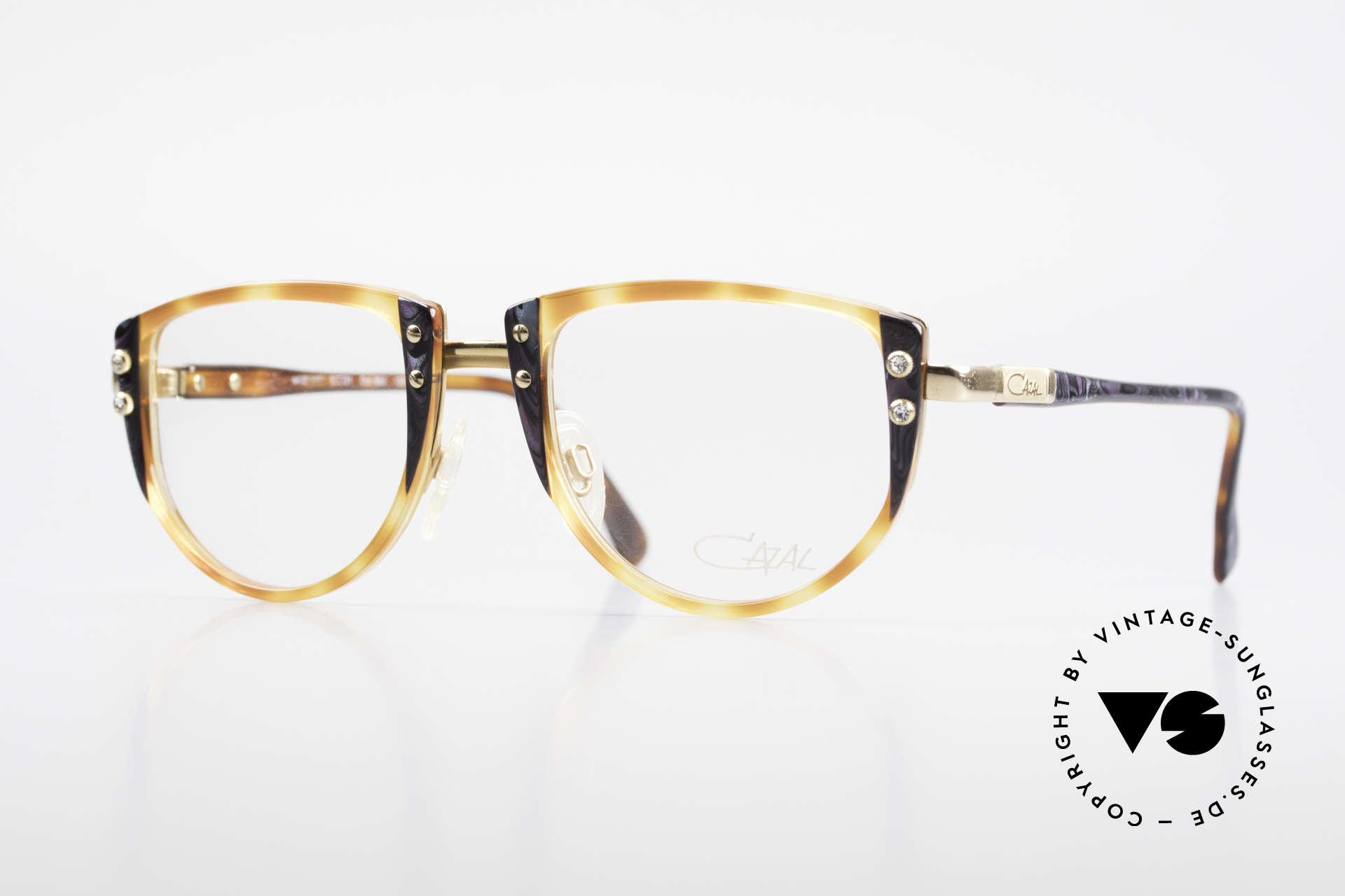 Cazal 332 90er Vintage Cazal Brille OG, reizende 90er Cazal vintage Designer-Damenbrille, Passend für Damen
