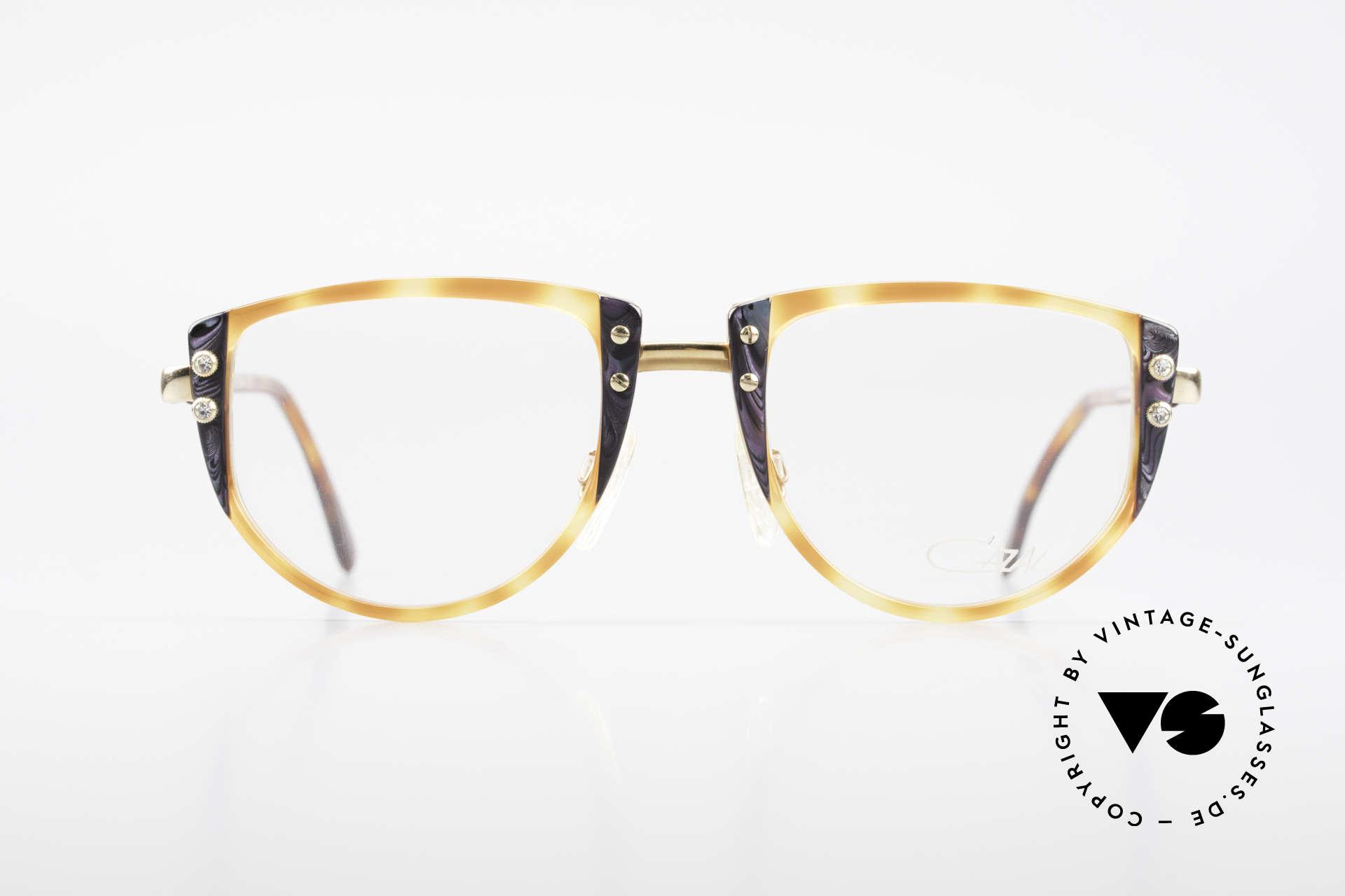 Cazal 332 90er Vintage Cazal Brille OG, großartige Kombination von Farben & Materialien, Passend für Damen