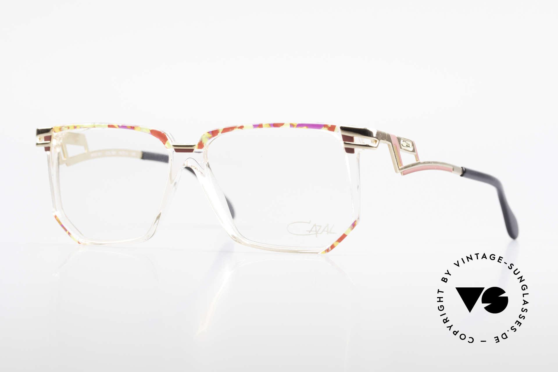 Cazal 351 Original Vintage Cazal HipHop, verrückte vintage Cazal Designerbrille der 80er/90er, Passend für Damen