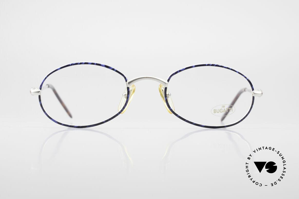 Bugatti 22338 Rare Ovale 90er Vintage Brille, sehr elegantes BUGATTI vintage Brillengestell, Passend für Herren und Damen