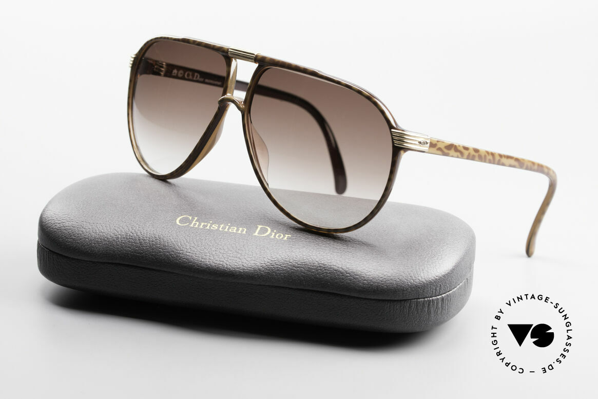 """Christian Dior 2300 80er Aviator Sonnenbrille, Größe 58/10 in eleganter """"horn/braun"""" Kolorierung, Passend für Herren"""