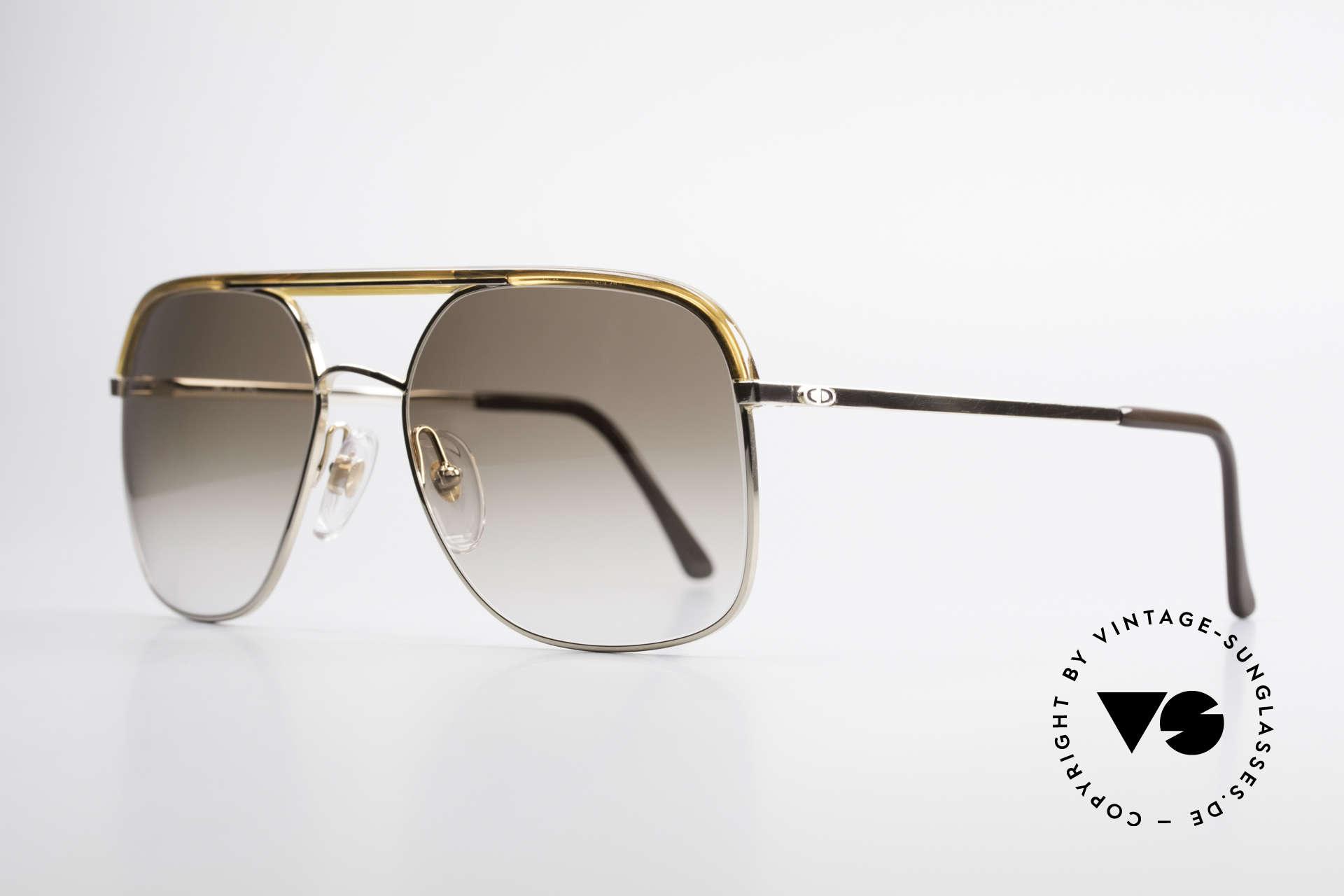 Christian Dior 2247 80er Herren Sonnenbrille, klassischer Achtziger Jahre Look (einfach edel markant), Passend für Herren
