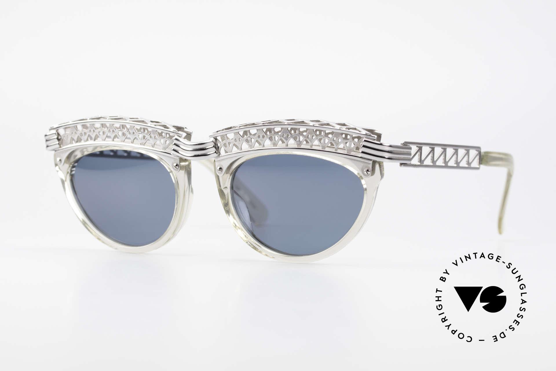 Jean Paul Gaultier 56-0271 Eifelturm Rihanna Sonnenbrille, vintage Designersonnenbrille von J.P.Gaultier, Passend für Damen