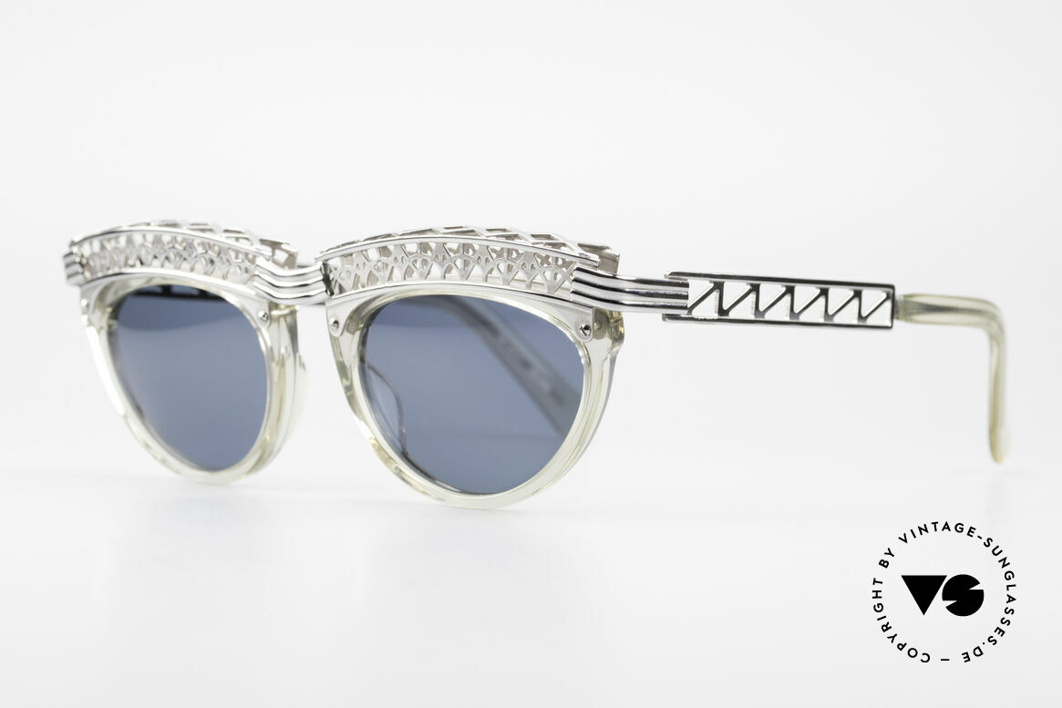 Jean Paul Gaultier 56-0271 Eifelturm Rihanna Sonnenbrille, Design orientiert am Eifelturm; Sammlerstück, Passend für Damen