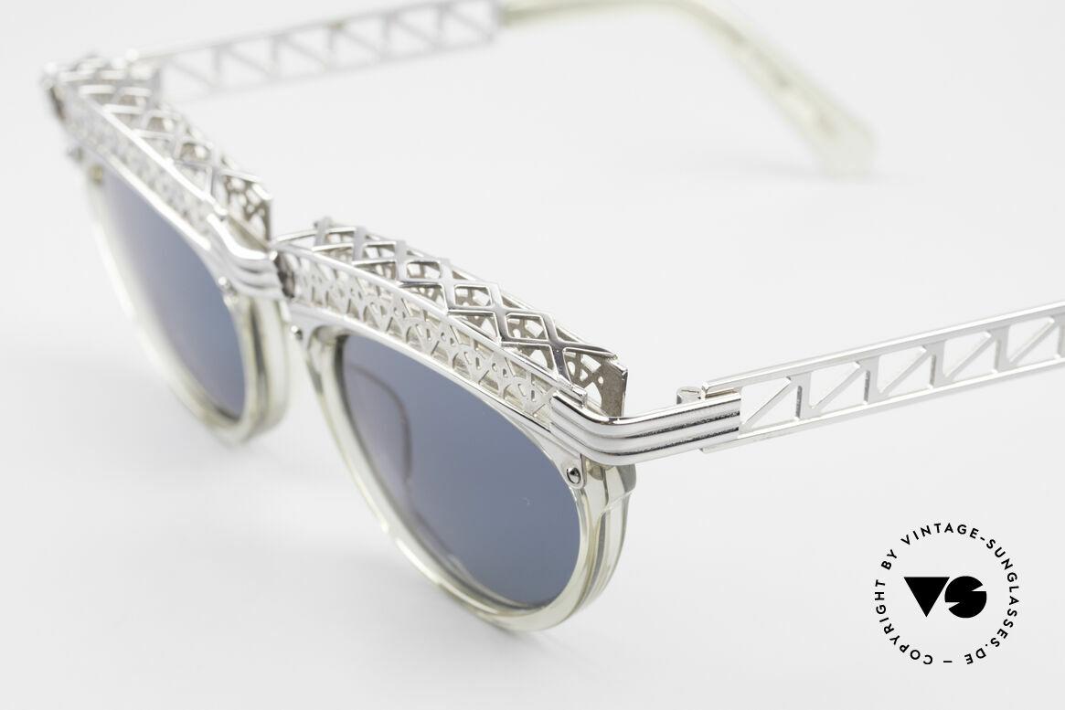 Jean Paul Gaultier 56-0271 Eifelturm Rihanna Sonnenbrille, heute auch als 'Steampunk-Brille' bezeichnet, Passend für Damen