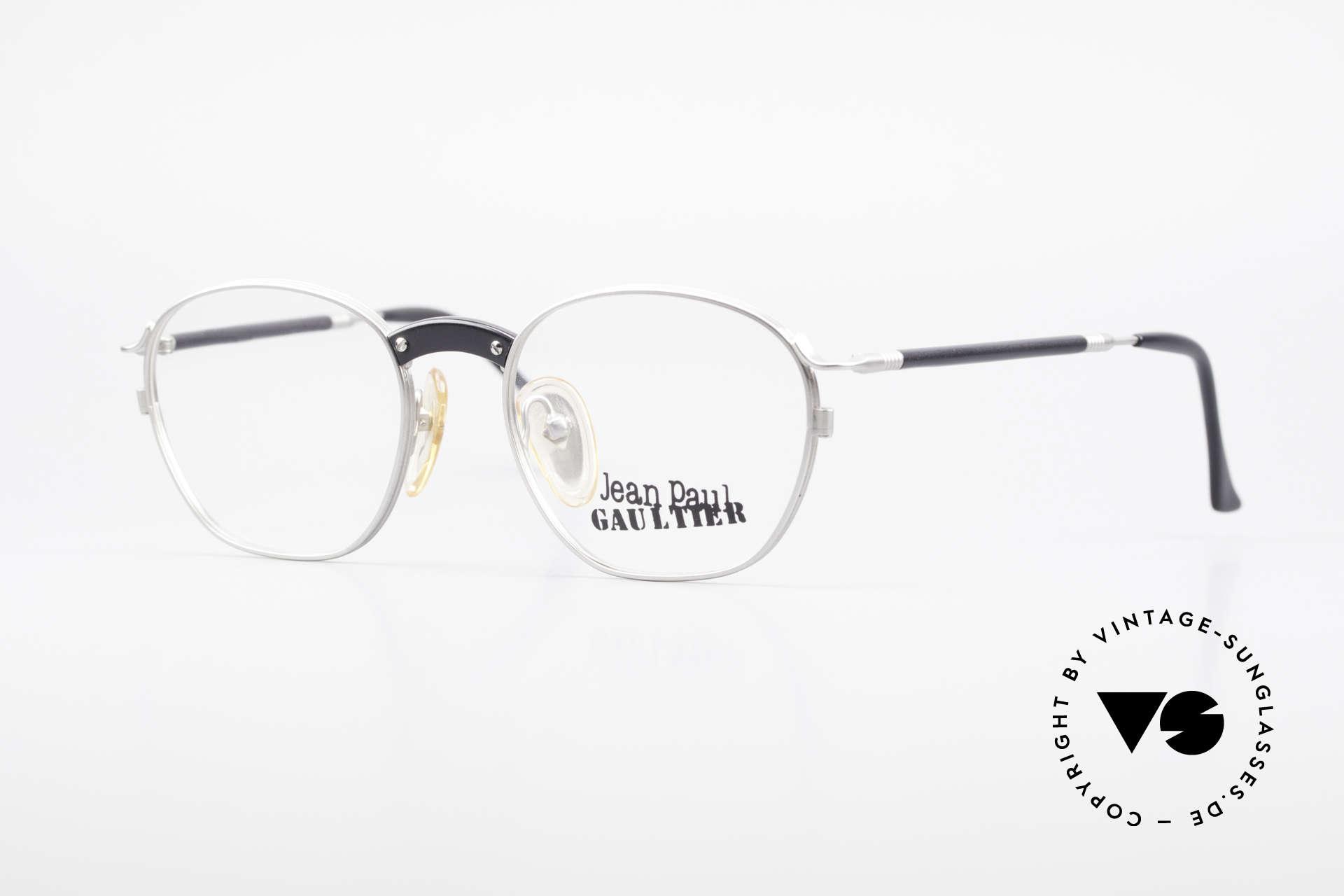 Jean Paul Gaultier 55-1271 Rare Alte Vintage Brille JPG, alte vintage Designer-Fassung von Jean Paul Gaultier, Passend für Herren und Damen