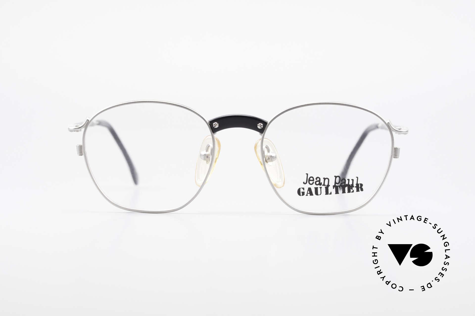 Jean Paul Gaultier 55-1271 Rare Alte Vintage Brille JPG, sehr leichter Rahmen & entsprechend hoher Komfort, Passend für Herren und Damen