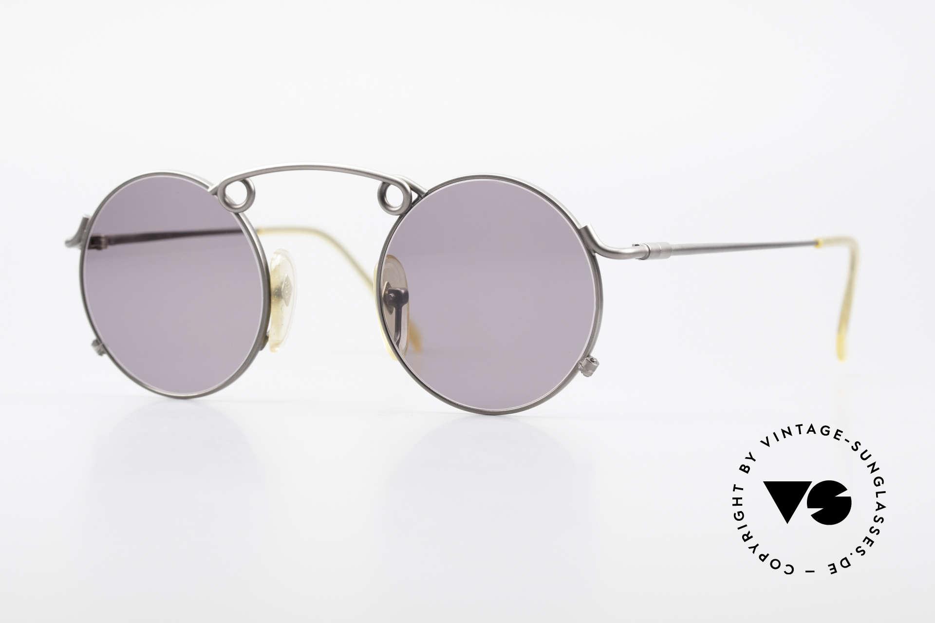 Jean Paul Gaultier 56-1178 Kunstvolle Panto Sonnenbrille, kunstvolle 'Panto-Stil' Brille von Jean Paul Gaultier, Passend für Herren und Damen