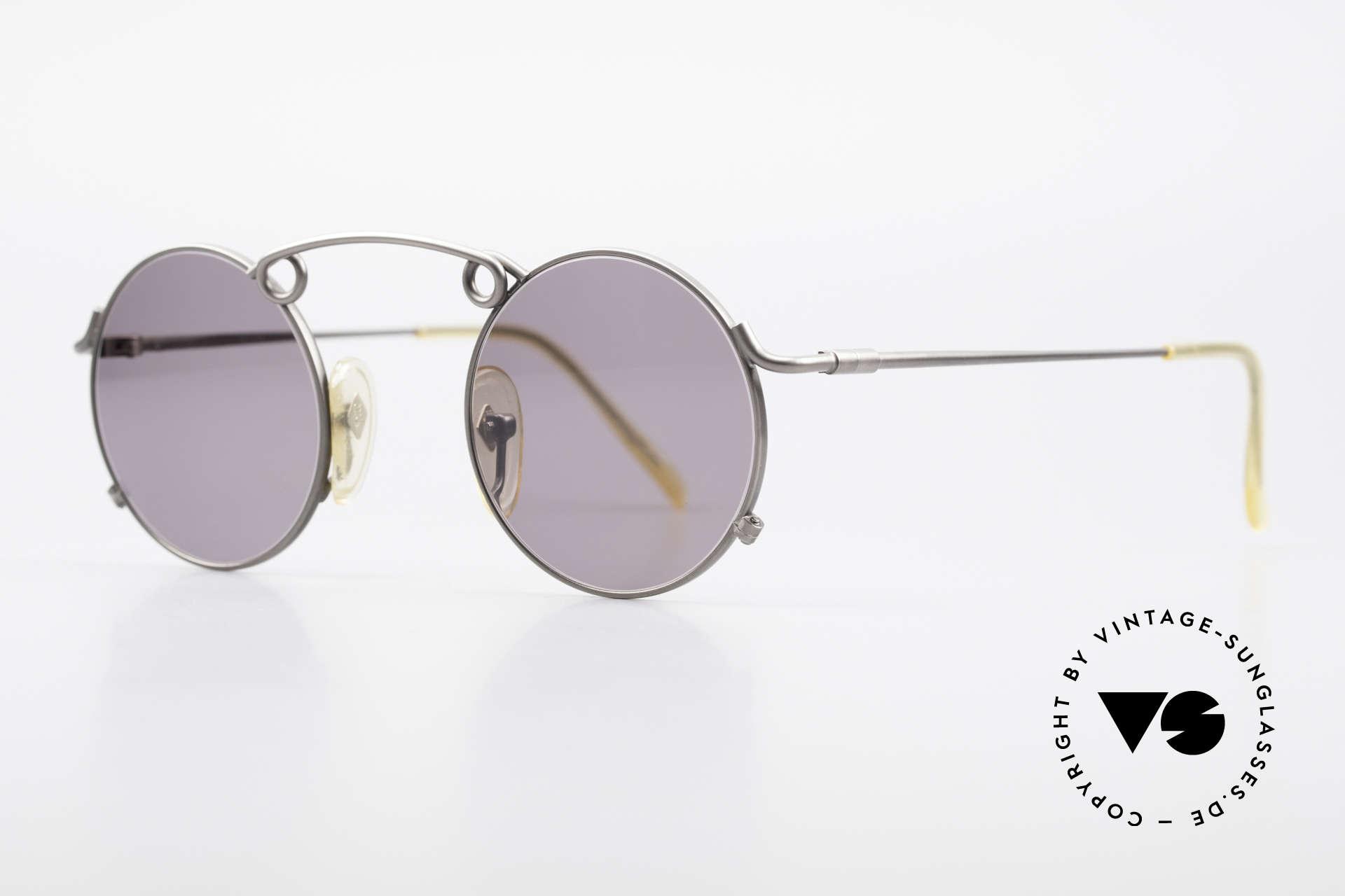 """Jean Paul Gaultier 56-1178 Kunstvolle Panto Sonnenbrille, enorm hochwertige Metall-Fassung in """"antik-silber"""", Passend für Herren und Damen"""