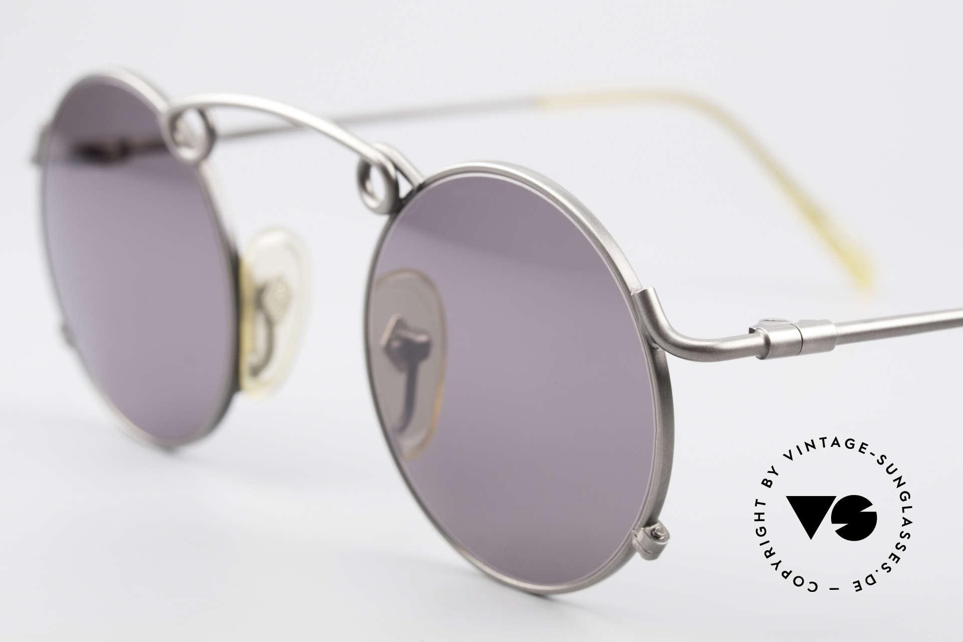 Jean Paul Gaultier 56-1178 Kunstvolle Panto Sonnenbrille, ungetragen (wie alle unsere Designer-Sonnenbrillen), Passend für Herren und Damen