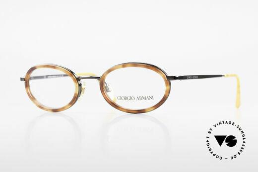 Giorgio Armani 258 Ovale Vintage Designer Brille Details