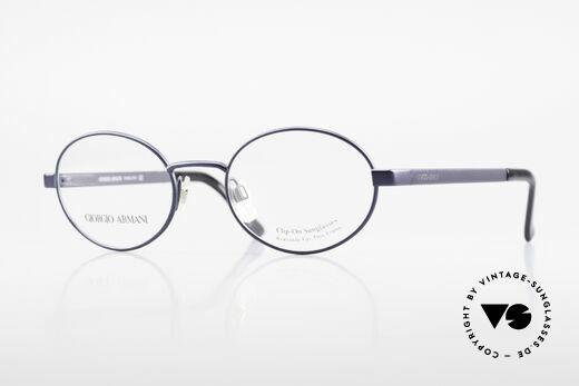 Giorgio Armani 257 Alte Ovale Vintage Brille 90er Details