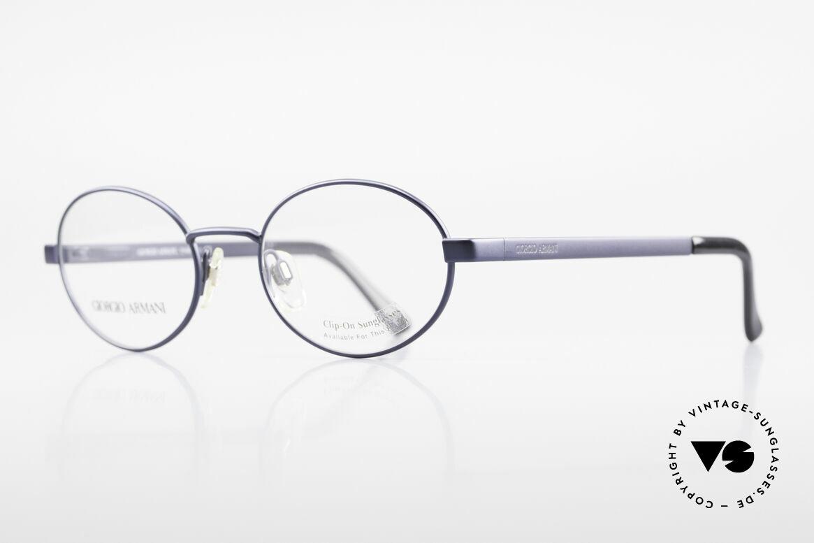 Giorgio Armani 257 Alte Ovale Vintage Brille 90er