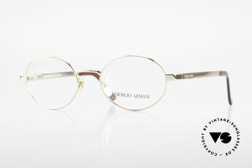 Giorgio Armani 257 Designerbrille Oval Vintage Details
