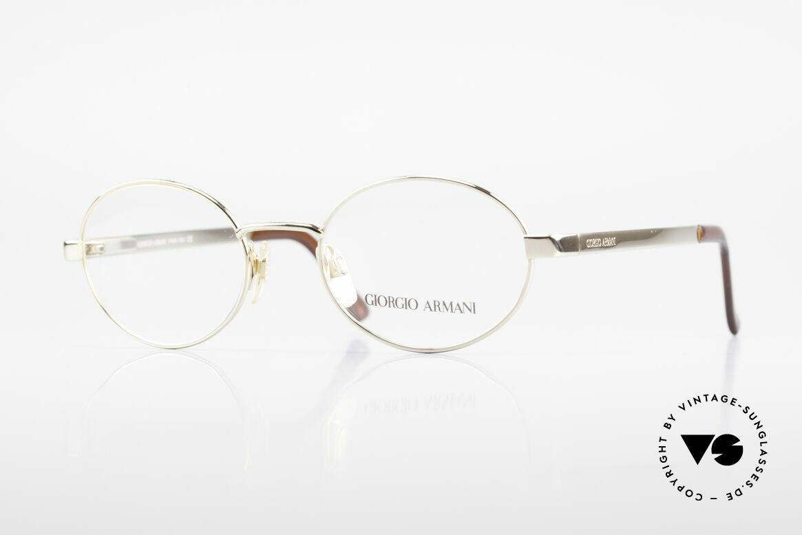 Giorgio Armani 257 Designerbrille Oval Vintage, ovale vintage Brillenfassung vom GIORGIO ARMANI, Passend für Herren und Damen