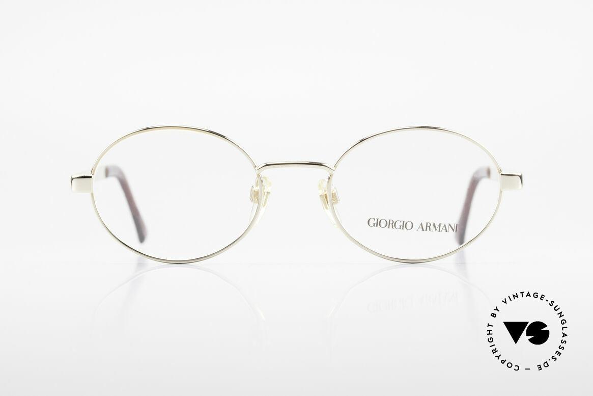 Giorgio Armani 257 Designerbrille Oval Vintage, dezenter, zeitloser Stil; passt gut zu fast jedem Look, Passend für Herren und Damen
